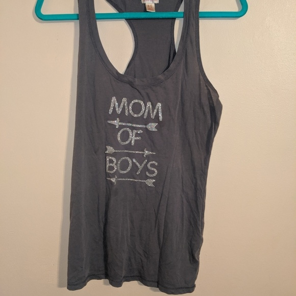 Mossimo Supply Co. Tops - Mom of boys gray Large tank top
